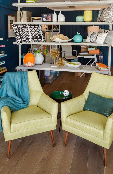Blue Daze Designs sitting area in the studio