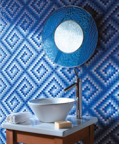 Blue Bath Tile